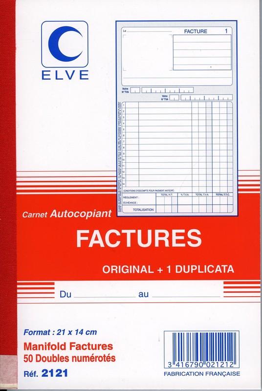 carnet de factures en duplicata format a5 avec colonne tva en vente lyon papeterie gouchon. Black Bedroom Furniture Sets. Home Design Ideas
