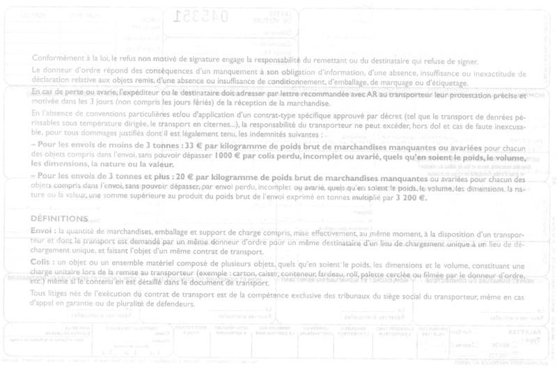 lettre de voiture pour transport routier disponible  u00e0 lyon