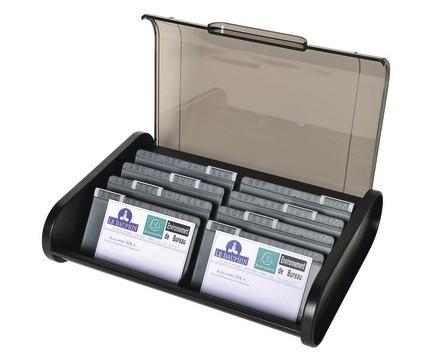 boite de classement pour cartes de visite - capacité 400 cartes en