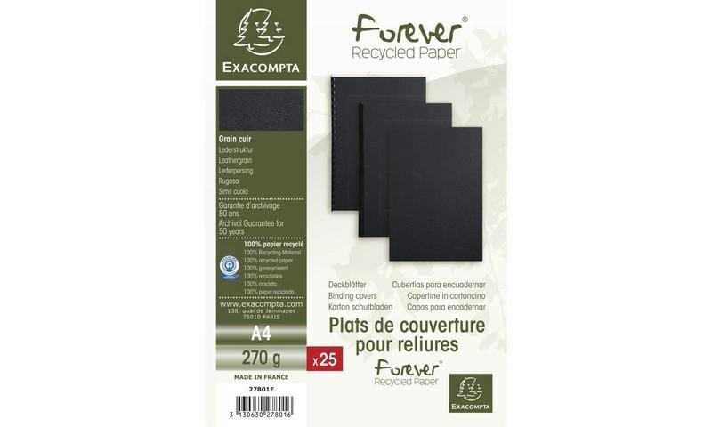 Pack De 25 Plats De Couvertures Pour Reliures Coloris Noir