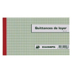 Carnet de quittances de loyer Exacompta
