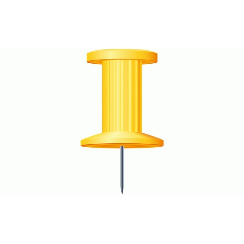 Boite de 25 épingles 'Push Pins' Coloris jaune Exacompta 14703E