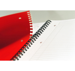 Cahier ActiveBook Ligné 6mm Oxford  - Format A5+ - Perforation feuilles