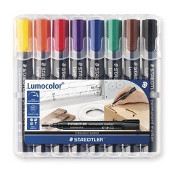 Marqueur Permanent Lumocolor - Staedtler 352 WP8 - 8 couleurs assorties