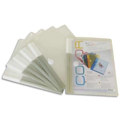 pack de 6 pochettes transparentes pour carnet de bord v hicule de service papeterie gouchon. Black Bedroom Furniture Sets. Home Design Ideas