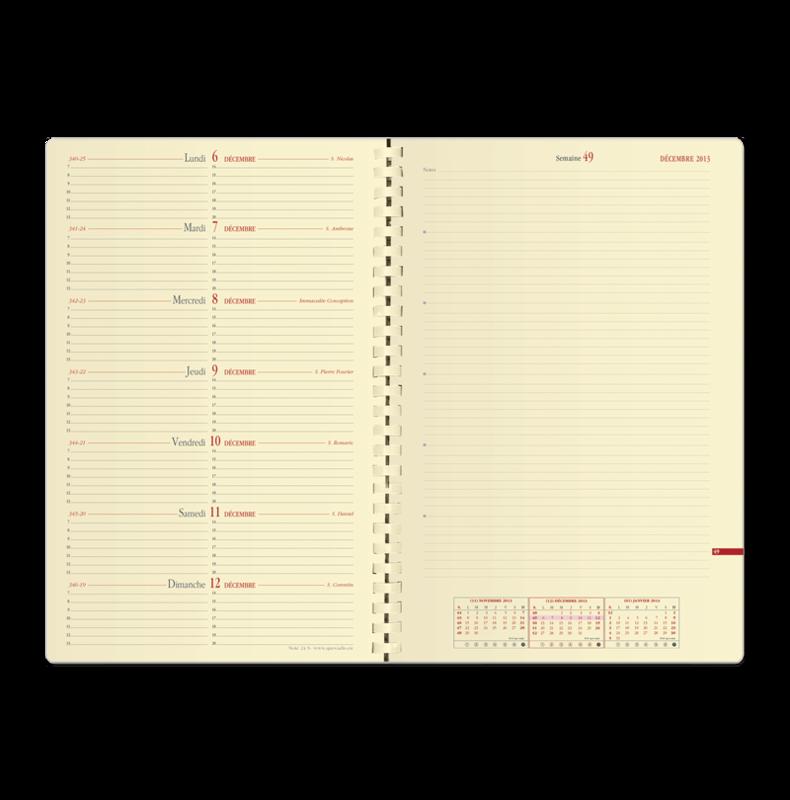 agendas quo vadis 2018 mod le note 29 s rouge avec spirale en stock lyon papeterie gouchon. Black Bedroom Furniture Sets. Home Design Ideas