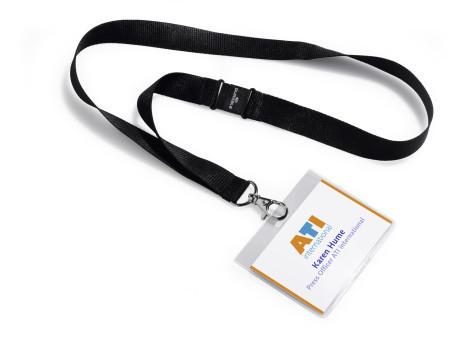 Badges 60 x 90 avec cordon textile noir en lot de 5 for Porte badge 60 x 90