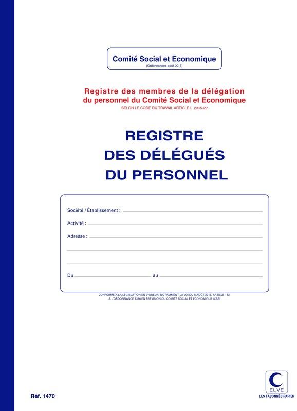 Registre Pour Delegues Du Personnel Du Cse En Stock A Lyon Papeterie Gouchon