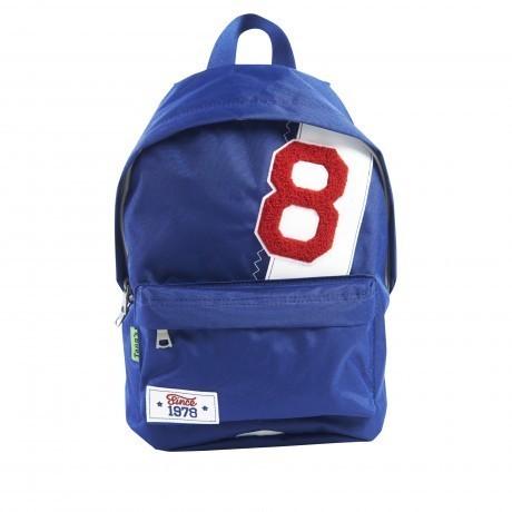 sac dos bleu de taille mini pour classe maternelle et gouter en stock lyon papeterie gouchon. Black Bedroom Furniture Sets. Home Design Ideas
